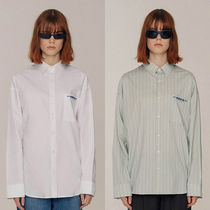ADERERROR Stripes Casual Style Unisex Street Style Collaboration
