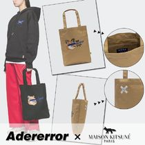 ADERERROR Casual Style Unisex Street Style Collaboration Plain Totes