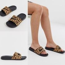 Nike AIR ZOOM Leopard Patterns Faux Fur Blended Fabrics Sport Sandals