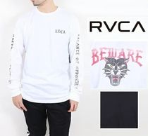 RVCA Crew Neck Long Sleeves Cotton Long Sleeve T-Shirts