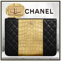CHANEL Lambskin Bag in Bag Plain Other Animal Patterns