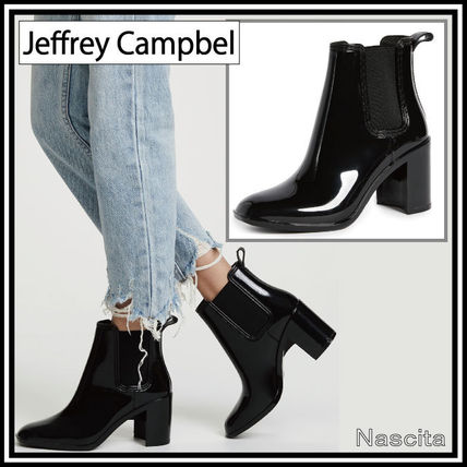 Rubber Sole Street Style Plain PVC Clothing High Heel Boots