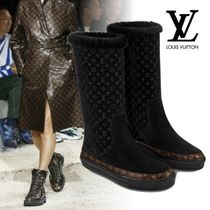 Louis Vuitton Monogram Rubber Sole Casual Style Fur Ankle & Booties Boots