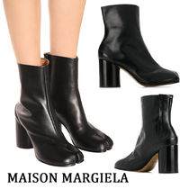 Maison Martin Margiela Casual Style Plain Leather Chunky Heels
