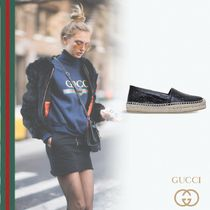 GUCCI Platform Casual Style Leather Lace-Up Shoes