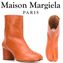 Maison Martin Margiela Casual Style Plain Leather Block Heels Python