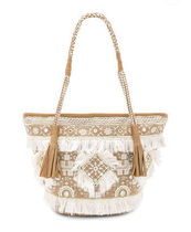Ron Herman Casual Style Tassel Fringes Logo Totes
