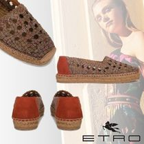 ETRO Paisley Square Toe Rubber Sole Casual Style Sandals Sandal