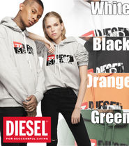 DIESEL Pullovers Blended Fabrics Street Style Long Sleeves Cotton