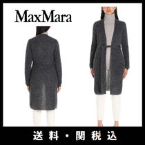 MaxMara Long Sleeves Plain Long Angola Gowns Elegant Style Knitwear