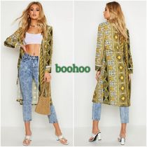 boohoo Casual Style Long Sleeves Long Midi Cardigans