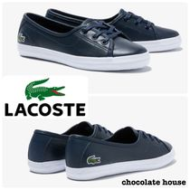 LACOSTE Other Animal Patterns Leather Low-Top Sneakers