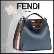 FENDI PEEKABOO Monogram Calfskin 2WAY Plain Messenger & Shoulder Bags