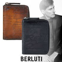 Berluti Street Style Leather Coin Cases
