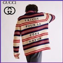 GUCCI Stripes Unisex Cotton Cardigans