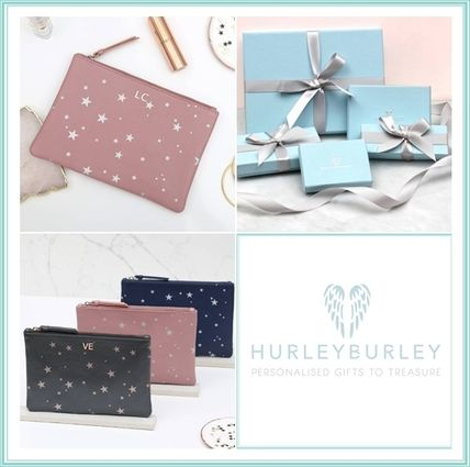 Star Unisex Leather Clutches