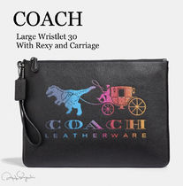 Coach Unisex Other Animal Patterns Leather Clutches