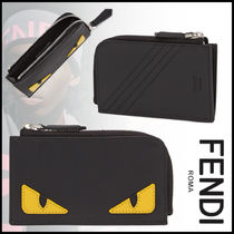 FENDI BAG BUGS Calfskin Street Style Coin Cases