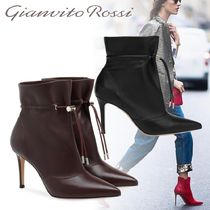Gianvito Rossi Casual Style Plain Leather Pin Heels Ankle & Booties Boots