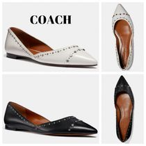 Coach Casual Style Blended Fabrics Studded Plain Leather