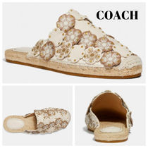 Coach Flower Patterns Platform Round Toe Casual Style