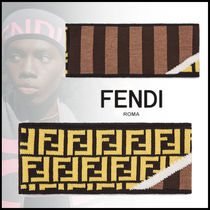 FENDI Stripes Wool Street Style Accessories