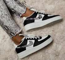 Nike AIR FORCE 1 Rubber Sole Casual Style Unisex Street Style