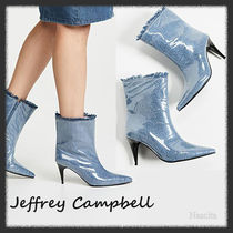 Jeffrey Campbell Rubber Sole Plain PVC Clothing High Heel Boots