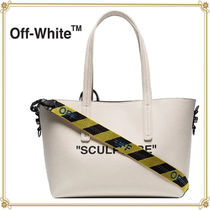 Off-White Casual Style 2WAY Plain Totes