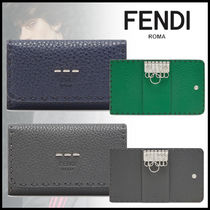 FENDI Calfskin Plain Keychains & Holders