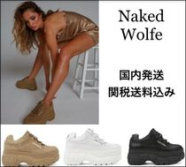 Naked Wolfe Platform Round Toe Casual Style Suede Plain