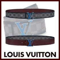 Louis Vuitton DAMIER GRAPHITE Other Check Patterns Blended Fabrics Street Style Bi-color