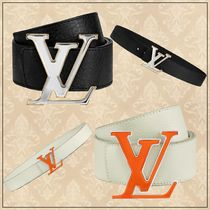 Louis Vuitton Blended Fabrics Street Style Plain Leather Long Belt Belts