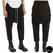 RICK OWENS Plain Cotton Cropped Pants