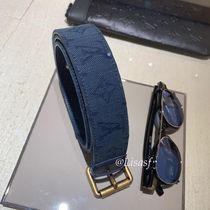 Louis Vuitton MONOGRAM Monogram Blended Fabrics Street Style Plain Belts