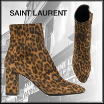 Saint Laurent LOU Suede Blended Fabrics Bi-color Other Animal Patterns