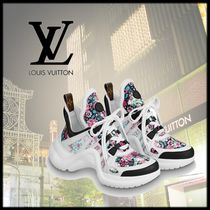 Louis Vuitton Flower Patterns Monogram Casual Style Low-Top Sneakers