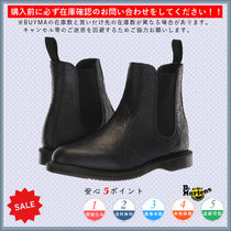 Dr Martens Flower Patterns Round Toe Casual Style Chelsea Boots