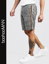 boohoo Other Check Patterns Street Style Joggers Shorts