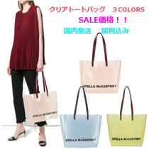 Stella McCartney Casual Style A4 Plain Crystal Clear Bags PVC Clothing Totes