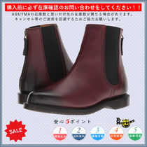 Dr Martens Round Toe Casual Style Plain Chelsea Boots