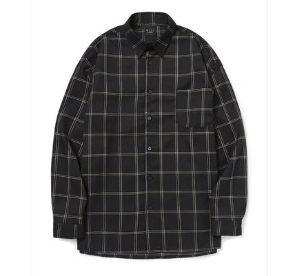 Shirts Other Check Patterns Unisex Long Sleeves Shirts 2