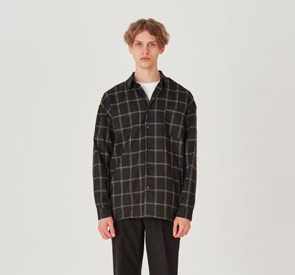 Shirts Other Check Patterns Unisex Long Sleeves Shirts 9