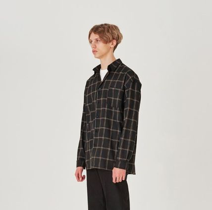 Shirts Other Check Patterns Unisex Long Sleeves Shirts 10