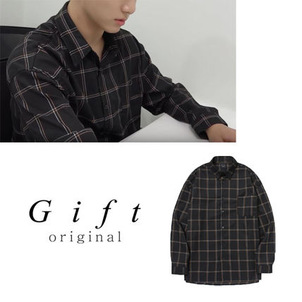 Shirts Other Check Patterns Unisex Long Sleeves Shirts