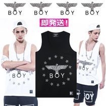 BOY LONDON Stripes Unisex Street Style Cotton Tanks