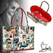 Christian Louboutin Calfskin Street Style A4 Totes