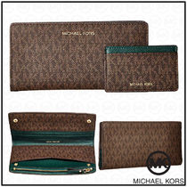 Michael Kors Monogram Unisex Street Style Card Holders