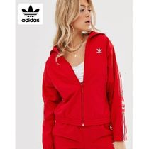 adidas Stripes Casual Style Nylon Street Style Medium Jackets