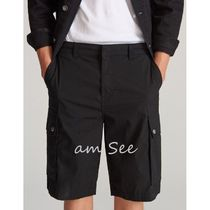 RESERVED Plain Cotton Cargo Shorts